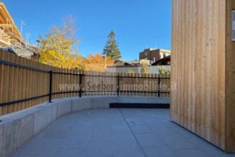 Kleine neue Erdgeschosswohnung mit toller Terrasse im Zentrum von Innichen im Hochpustertal zu verkaufen