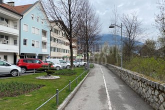 Free two-room apartment in a prime location along the river in the center of Brunico for sale