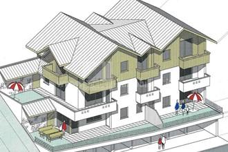 Wunderschöne Neubauwohnungen in Welschellen am Eingang des Gadertales in Panoramalage mit tollem Ausblick auf die Dolomiten in Planung