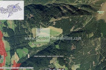 Waldparzelle in Terenten in Hanglage Richtung Weitental, erreichbar über Margen