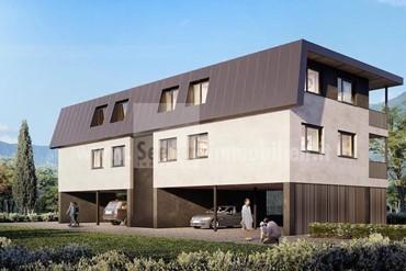 Neue großzügige 4-Zimmer-Wohnung mit Garten und zwei Carports in ruhiger Lage in Burgstall zu verkaufen